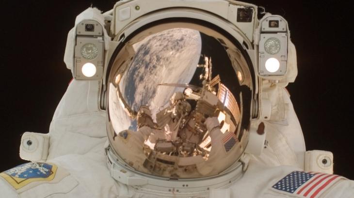 Space selfie by Japanese astronaut Akihiko Hoshide